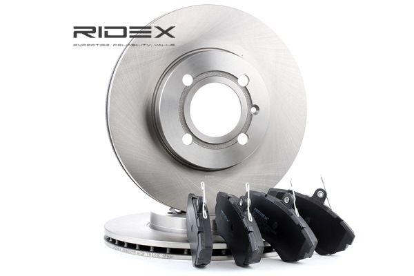 RIDEX Vorderachse, belüftet, exkl. Verschleißwarnkontakt 3405B0097