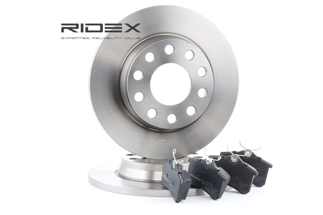 RIDEX Hinterachse, Voll, nicht für Verschleißwarnanzeiger vorbereitet 3405B0018