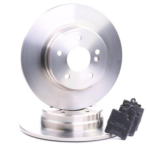 RIDEX Hinterachse, Voll, exkl. Verschleißwarnkontakt, für Verschleißwarnanzeiger vorbereitet, mit Anti-Quietsch-Blech 3405B0263