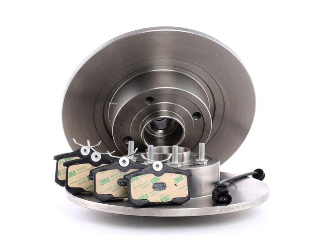 RIDEX Hinterachse, Voll, mit Radlager, mit ABS-Sensorring 3405B0120