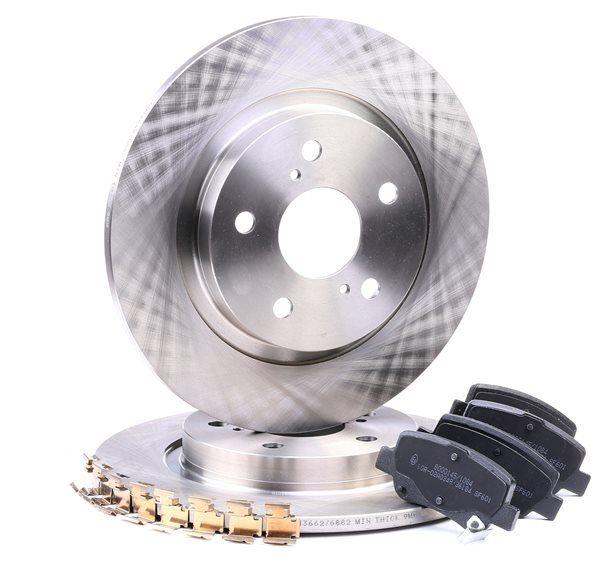RIDEX Hinterachse, Voll, mit akustischer Verschleißwarnung, mit Anti-Quietsch-Blech 3405B0205