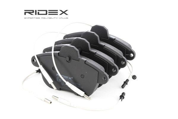 RIDEX Vorderachse, inkl. Verschleißwarnkontakt, mit Montageanleitung, Front & Rear 402B1030