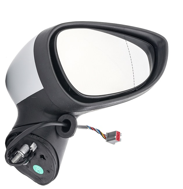 Offside wing mirror STARK 8158125 Right, Aspherical, for electric mirror adjustment, Heatable, Paintable