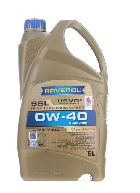 Olio auto 0W-40, Contenuto: 5l, Olio sintetico EAN: 22108314083759408375