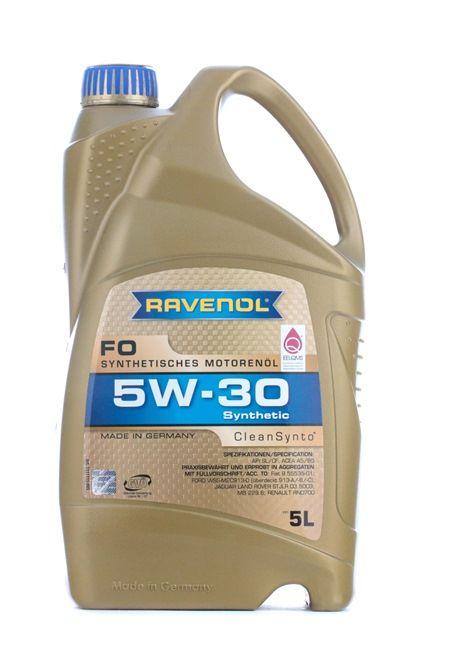 Olio auto 5W-30, Contenuto: 5l, Olio sintetico 100% EAN: 22108314083778408377