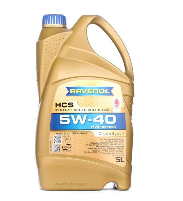 Olio auto 5W-40, Contenuto: 5l, Olio sintetico EAN: 22108314083922408392