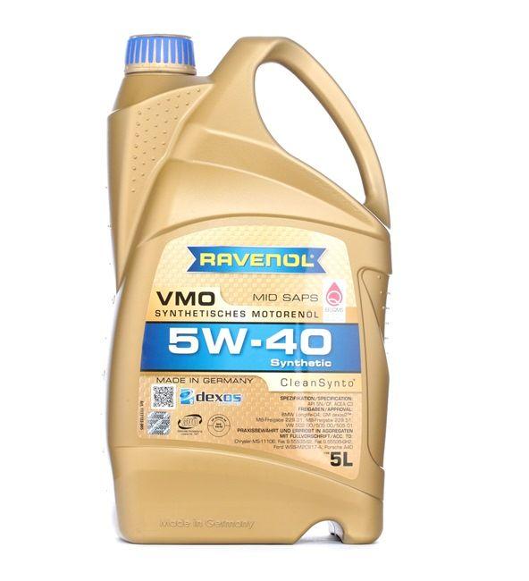 Olio auto 5W-40, Contenuto: 5l, Olio sintetico EAN: 22108314083904408390