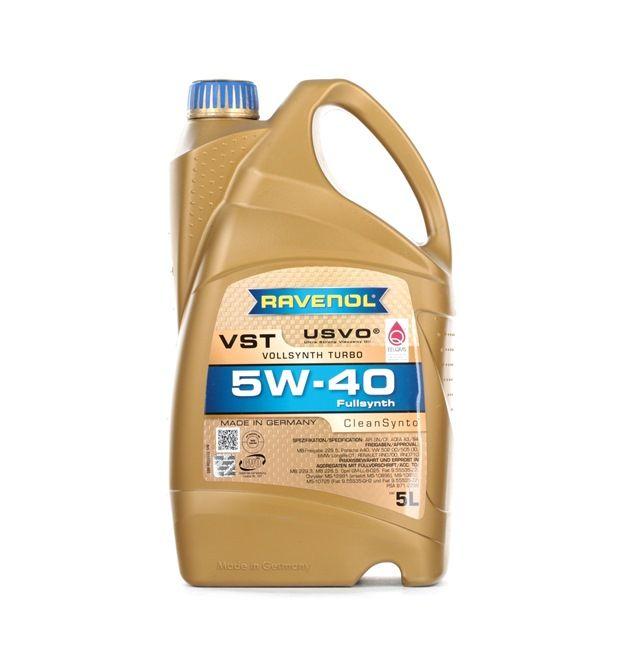 Olio auto 5W-40, Contenuto: 5l, Olio sintetico 100% EAN: 22108314083913408391