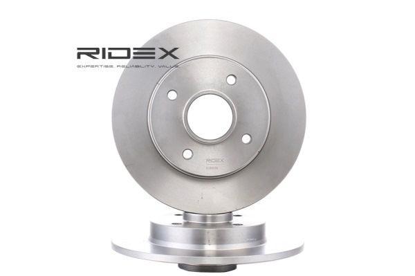Brake discs and rotors RIDEX 8237531 Rear Axle, Solid, without ABS sensor ring, without integrated magnetic sensor ring, without screws, without wheel bearing