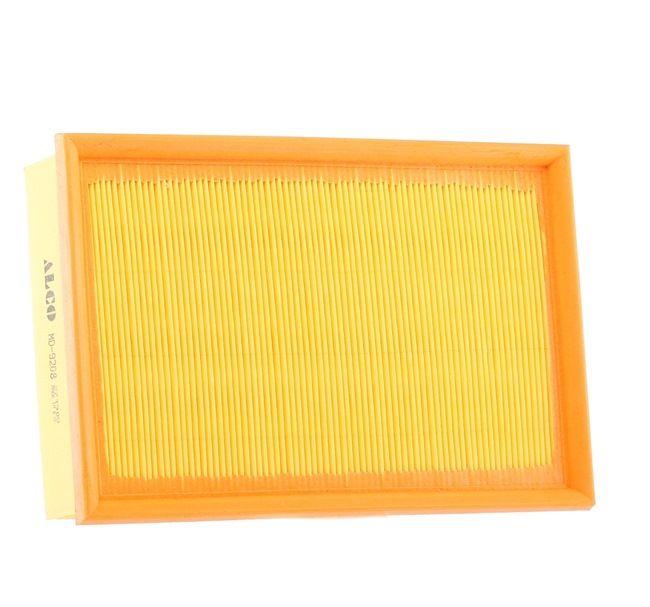 Luftfilter Länge: 274,0mm, Breite: 188,0mm, Höhe: 60,0mm mit OEM-Nummer 1LO 129 620