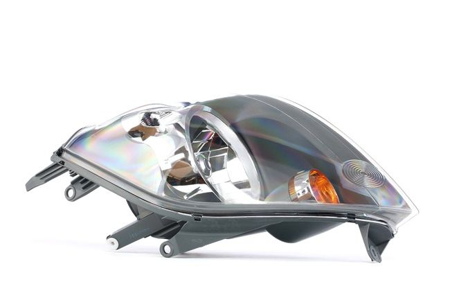 Headlamps ABAKUS 8349484 Left, H4, Housing with black interior, with motor for headlamp levelling