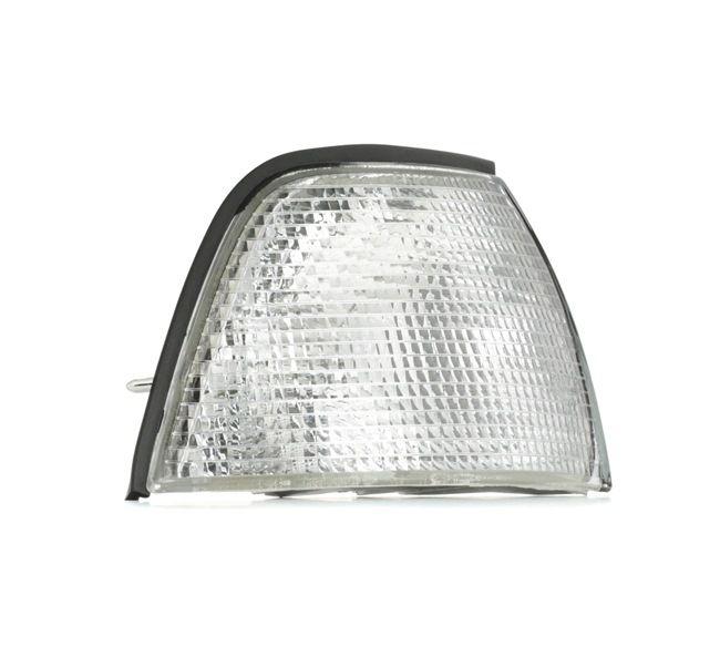 ABAKUS Luz intermitente BMW derecha, sin portalámparas, sin bombilla, transparente