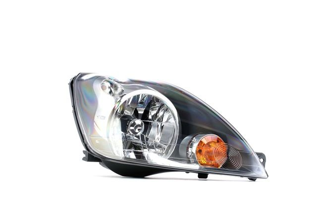 Headlamps ABAKUS 8354908 Right, H4, Housing with black interior, with motor for headlamp levelling