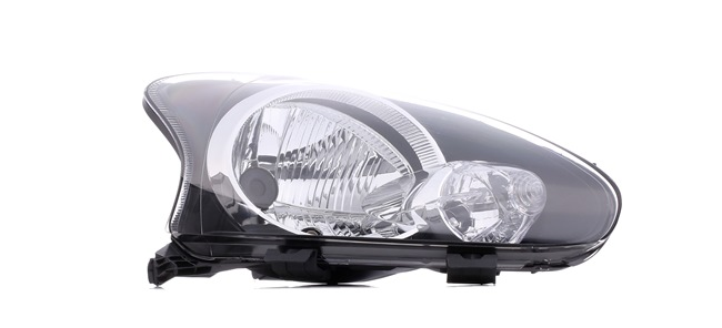 Headlamps ABAKUS 8356314 Right, H4, Housing with black interior