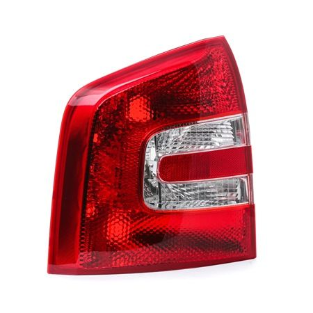 Rear lights ABAKUS 8357096 Left, without bulb, without lamp base, P21W, PY21W, W3W