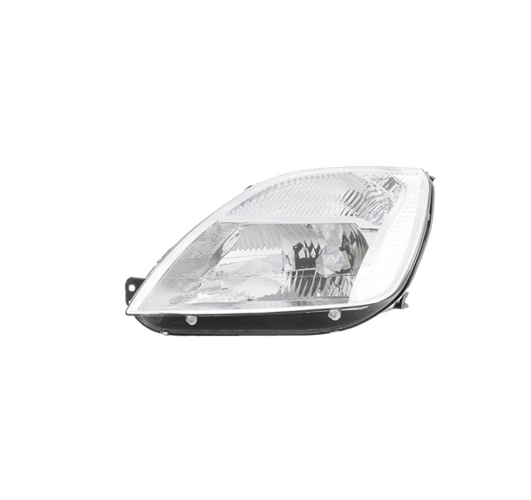 Headlamps ABAKUS 8357203 Left, H4, PY21W, W5W, with motor for headlamp levelling, Halogen, with lamp base