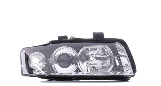 ABAKUS Přední světlomet AUDI pravá, H7/H7, bez servomotoru pro regulaci sklonu světlometu, s držákem žárovky