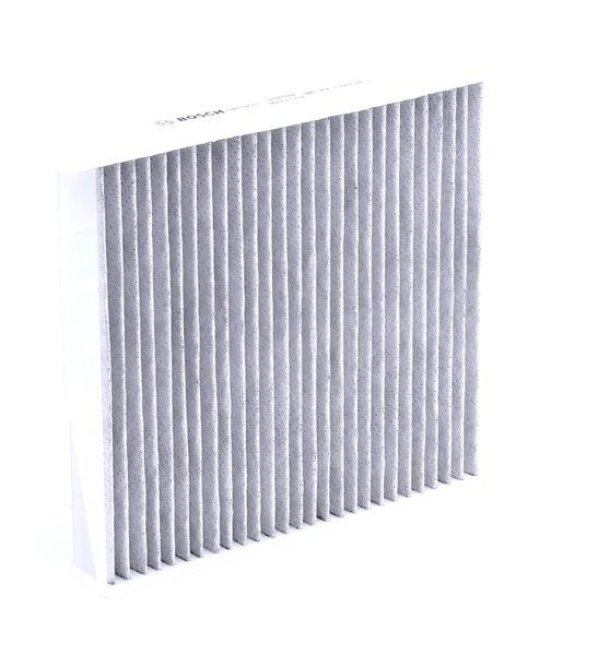 Cabin filter BOSCH A8521 FILTER+, Charcoal Filter, Particulate filter (PM 2.5), with anti-allergic effect, with antibacterial action