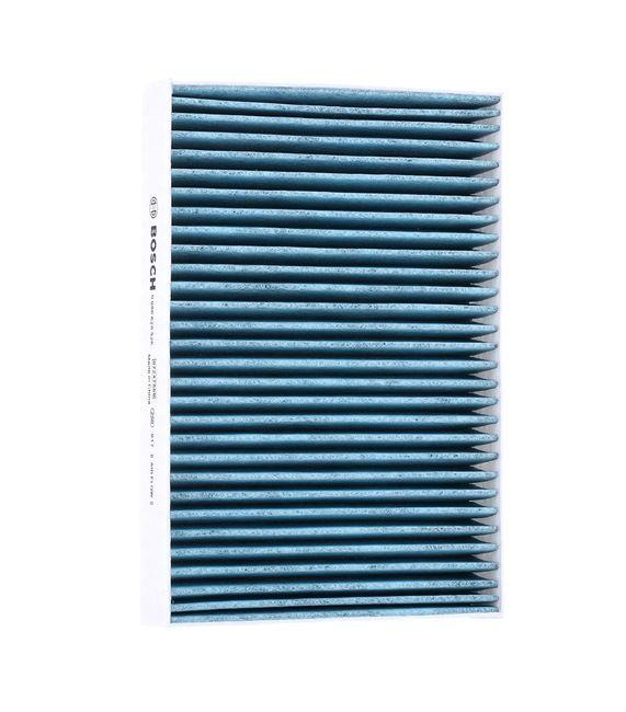 Filtro de aire acondicionado BOSCH A8526 FILTRO+, con efecto antialérgico, con efecto bactericida, Filtro de carbón activado, Filtro partículas finas (PM 2.5)