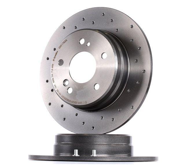 Frenos de disco BREMBO 8696609 Macizo, Perforado, revestido, con tornillos