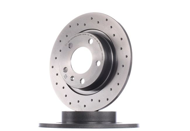 BREMBO XTRA LINE Brake rotors OPEL Perforated, Solid, Coated, with screws