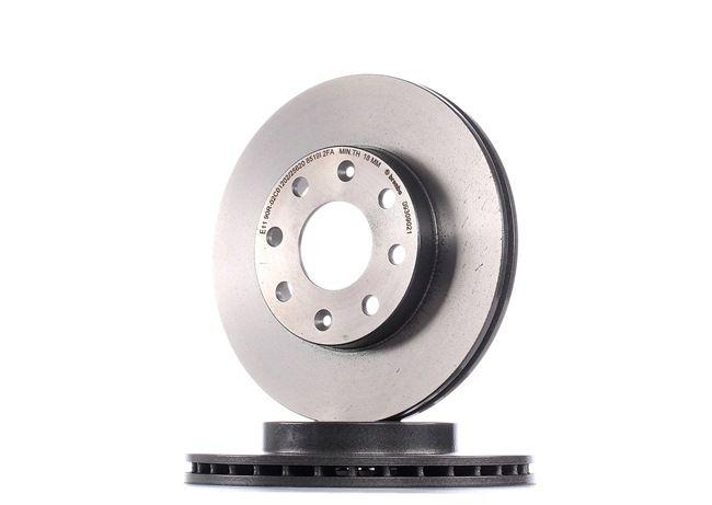 Frenos de disco BREMBO 8712182 Ventilación interna, revestido, con tornillos