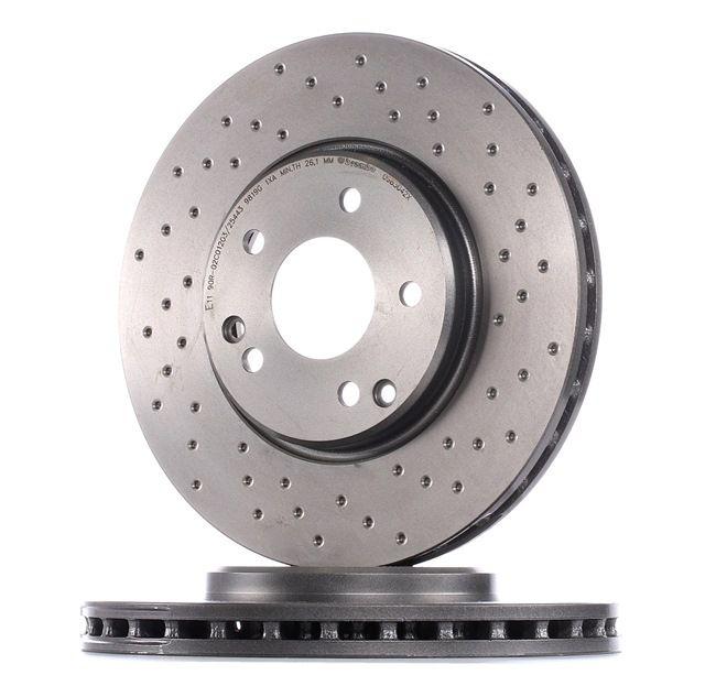 BREMBO XTRA LINE Frenos de disco MERCEDES-BENZ Perforado/ventil. int., revestido, altamente carbonizado, con tornillos