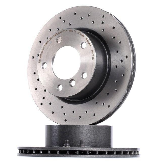 BREMBO XTRA LINE Frenos de disco BMW Perforado/ventil. int., revestido, altamente carbonizado, con tornillos
