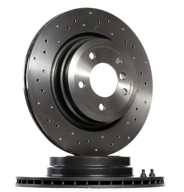 BREMBO Brake Disc Perforated / Vented, Coated, High-carbon, with screws