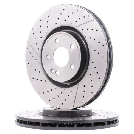 BREMBO Bremsscheibe Geschlitzt/Gelocht, Innenbelüftet, beschichtet, hochgekohlt, mit Schrauben