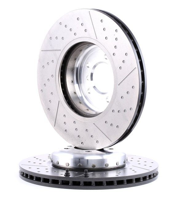 BREMBO TWO-PIECE DISCS LINE Brake disc kit Two-piece Brake Disc, Slotted / Perforated, Internally Vented, Coated, High-carbon, with screws