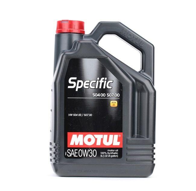 MOTUL Motorolajok VW 504 00 0W-30, Térfogat: 5l, Szintetikus olaj