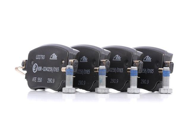 ATE Ceramic exkl. Verschleißwarnkontakt, nicht für Verschleißwarnanzeiger vorbereitet, mit Bremssattelschrauben 13047027902