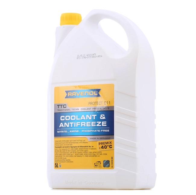 RAVENOL VSE SAE 0W-20 Liquido refrigerante FIAT Contenuto: 5l, giallo