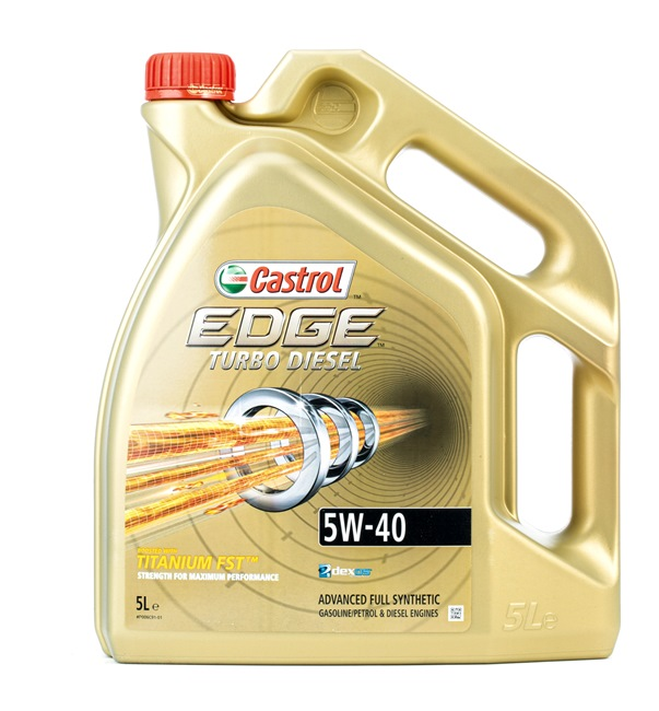 Buy cheap Engine oil from CASTROL EDGE TITANIUM FST, Turbo Diesel, 5W-40, 5l online - EAN: 9001606018148
