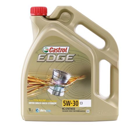 Buy cheap Engine oil from CASTROL EDGE TITANIUM FST, C3, 5W-30, 5l online - EAN: 4008177080371