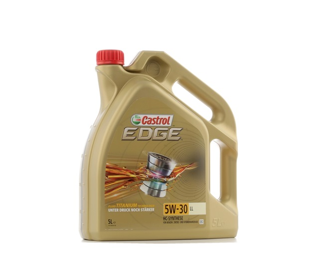 Buy cheap Engine oil from CASTROL EDGE TITANIUM FST, LL, 5W-30, 5l online - EAN: 4008177107184