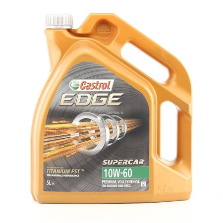Buy cheap Engine Oil EDGE TITANIUM FST, Supercar, 10W-60, 5l from CASTROL online - EAN: 4008177124198