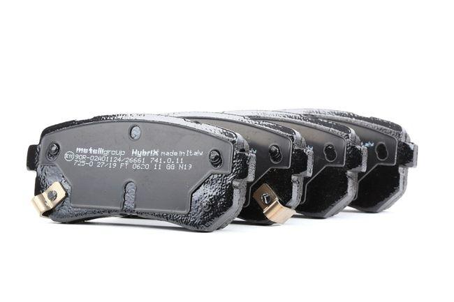 Disk brake pads METELLI 24322 with acoustic wear warning