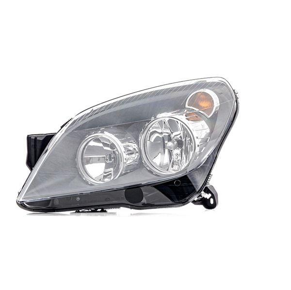 HELLA Headlight Left, H1, H21W, H7, W5W, with motor for headlamp levelling, without bulbs, Halogen