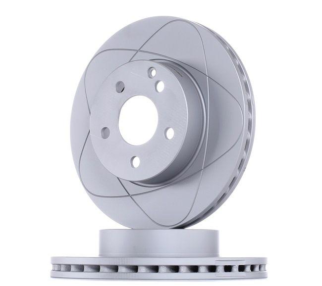 ATE PowerDisc Frenos de disco MERCEDES-BENZ ventilado, revestido, aleado/alt. carburado, con tornillos