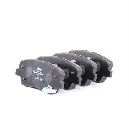 Disk brake pads VALEO 9485065 FIRST, Rear Axle, incl. wear warning contact, with acoustic wear warning, without anti-squeak plate