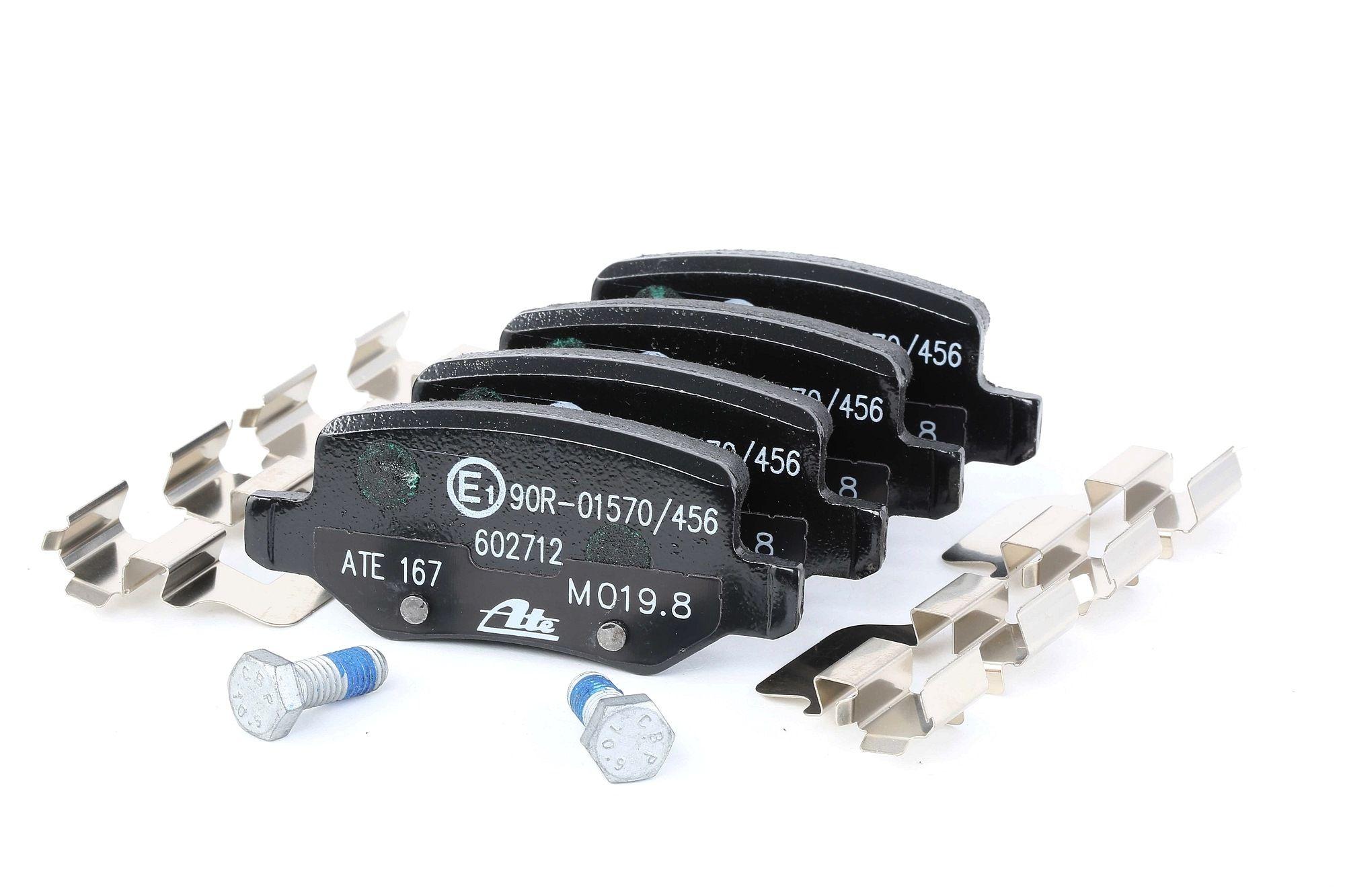 Disk brake pads ATE 602712 rating