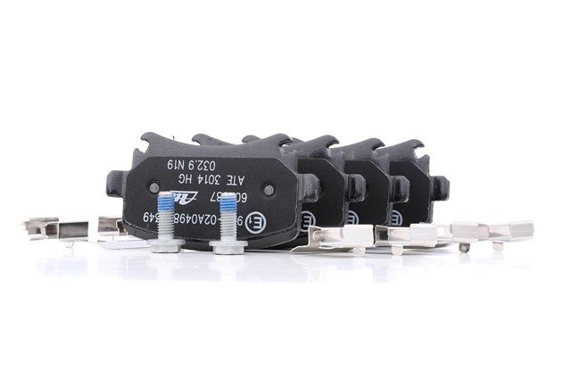 Bremsbelagsatz, Scheibenbremse Breite: 105,3mm, Höhe: 55,9mm, Dicke/Stärke: 17,1mm mit OEM-Nummer JZW 698 451M