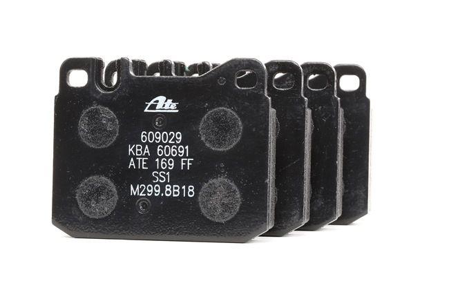 Bremsbelagsatz, Scheibenbremse Breite: 89,6mm, Höhe: 73,8mm, Dicke/Stärke: 16,7mm mit OEM-Nummer A00 042 09 520