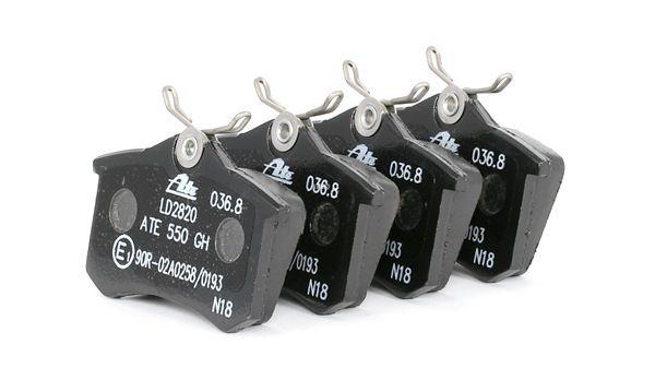Bremsbelagsatz, Scheibenbremse Breite: 87,6mm, Höhe: 52,9mm, Dicke/Stärke: 17,2mm mit OEM-Nummer E172204