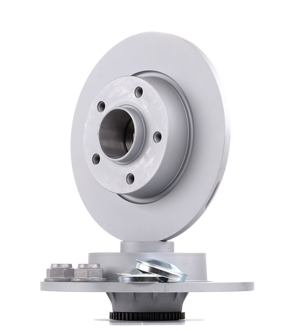 Brake discs and rotors ATE 412177 Solid, Coated, with ABS sensor ring, with bearing(s)