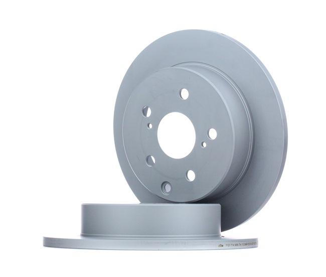 Frenos de disco ATE 412714 Macizo, revestido