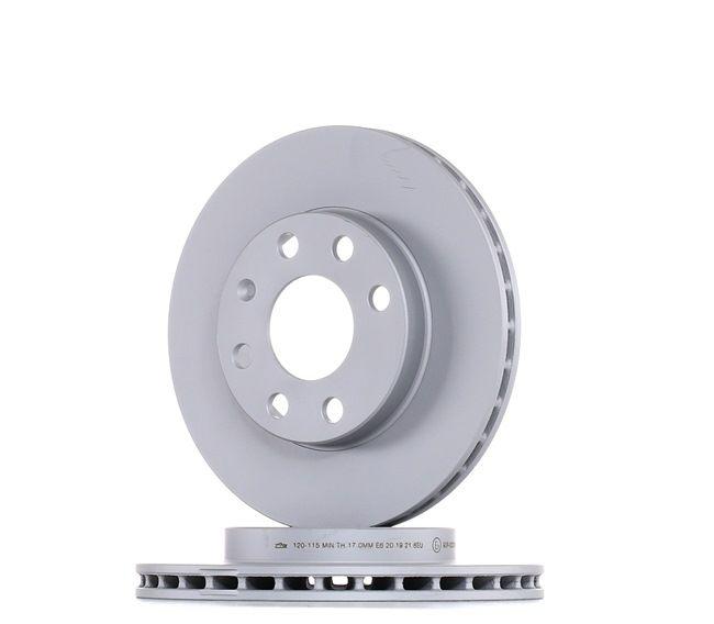 Frenos de disco ATE 420115 ventilado, revestido, aleado/alt. carburado, con tornillos