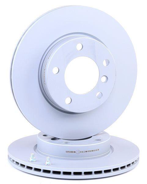 Frenos de disco ATE 422115 ventilado, revestido, altamente carbonizado, con tornillos